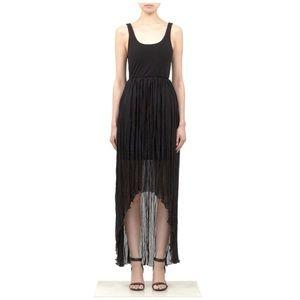 Alice + Olivia Liz High-Low Maxi Dress, Black, 4